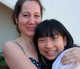 Diane and Yuka at Evolutionary Leaders Retreat