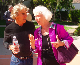 Gordon Dveirin and Barbara Marx Hubbard at Evolutionary Leaders Retreat